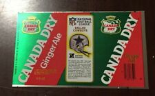 NOS 1976 Canada Dry Ginger Ale Soda Can Football NFL Dallas Cowboys sheet unused