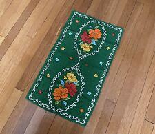 New listing vintage retro Mcm Green Floral Cotton Tea Towel / Kitchen Hand Dish Towel 16x27