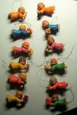 12 Anri Ferrandiz Flying Angel Ornaments Made In Italy Hand Crafted Hand Painted