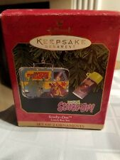 Hallmark Keepsake Christmas Ornament Scooby Doo Lunch Box & Thermos Set Mib 1999