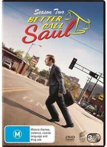 Better Call Saul - Season 2 (DVD, 3 Disc Set) Region 4  - NEW+SEALED