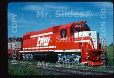 Original Slide TP&W Toledo Peoria & Western New GP38-2 2003 Canton IL 1977