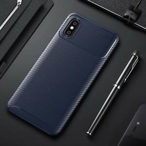 Handyhülle elegant Carbonoptik Xiaomi Mi 8 Pro TPU Navy Blau