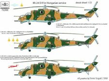 Hungarian Aero Decals 1/72 MIL MI-24 D/V HIND Helicopter in Hungarian Service