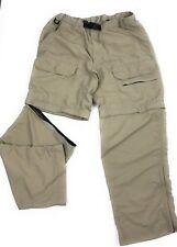 Eddie Bauer Hiking Cargo Zippered Convertible Khaki Shorts/Pants Men's 30