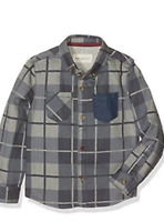Boys shirt DESIGNER age 3 4 5 6 7 8 9 10 years RRP £30 denim grey checked