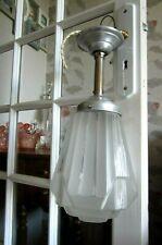 Ancien plafonnier lustre suspension globe SKYSCAPPER BUILDING Art Déco/Nouveau