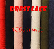 Floral Dress Lace Polyester Dressmaking Fabric - black, white, blue, ivory, pink