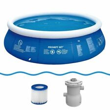 Marin Blue Pool Set Ø360x84 cm Swimmbad Schwimmbecken + Pumpe & Filterkartusche