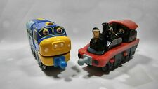 Chuggington DieCast Lot Of 2 OLD PUFFER PETE 2013 Red & BREWSTER 2010 TRAINS