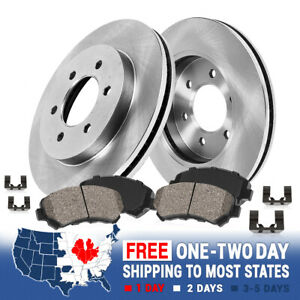 Front Brake Rotors Ceramic Pads For V6 CHEVY TRAILBLAZER BUICK RAINIER GMC ENVOY