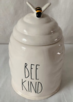 """New Rae Dunn Ceramic Large """"BE KIND"""" Bee Hive Canister--- BRAND NEW!"""