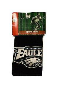 "Brand New NFL Philadelphia Eagles Black Sports Towel 15"" * 25"""