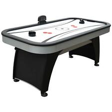 Man Cave Air Hockey Game Table 6ft w Scratch-Resistant Surface and 160 Air Holes