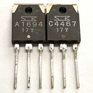 2SA1694 2SC4467 Sanken Matched pulled original transistors Group: Y