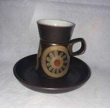 Retro Denby Arabesque Samarkand Coffee Can and Saucer Vintage 1970s