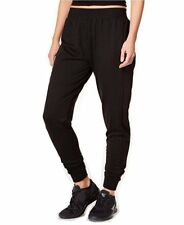 New Jessica Simpson Juniors' The Warm Up Mesh-Inset Joggers Pants Black Size M