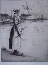 Gertrude Hayes - Etching - Dutch Girl - Unmounted & Unframed.