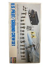 Hasegawa Us Pilot / Ground Crew Set 1:72 Model Airplane Accessory Kit #11673