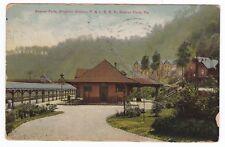 Beaver Falls PA -BRIGHTON STATION ON P&LE RAILROAD- Postcard