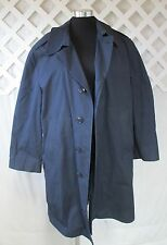Men's Vintage Military Blue 3356 All Weather Removable Fur Lined Coat Sz 42XS
