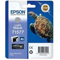 EPSON T1577 - Print Cartridge - LIGHT BLACK- GENUINE - Original Inkjet Brand New