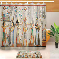 Ancient Egyptian Old Natural Papyrus Shower Curtain Bathroom Waterproof Fabric