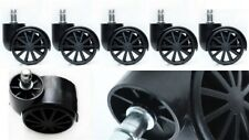 5x Soft Rubber Non Marking Castor Wheels Computer Office Chair Caster 11mm Black