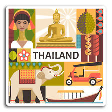2 x 10cm Thailand Travel Vinyl Stickers - Sticker Laptop Luggage Gift #19314