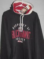New! CCM NHL VINTAGE CHICAGO BLACKHAWKS Black PULLOVER SWEATSHIRT HOODIE XLarge