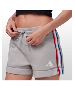 Adidas Shorts Womens Plus Sizes Authentic French Terry Cotton Americana Grey