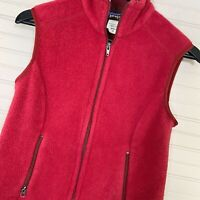 Patagonia Synchilla Fleece Zip Vest Polyester Red Women's Size S #25163
