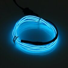 2M Blue Neon LED Light Glow EL Wire String Strip Rope Tube Decor + Controller