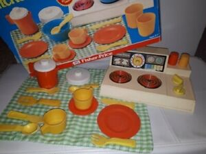 Vintage Fisher Price Kitchen Set - Boxed 1970s No.919 Toy Collectable