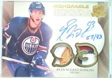 /93 RYAN NUGENT HOPKINS HONORABLE NUMBERS OIL DROP PATCH AUTO 2011 11 12 THE CUP