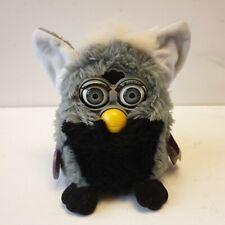 Vintage Retro Original Furby 1999 Rare Black and Grey With Grey Eyes