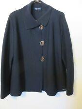 Saint James cardigan sweater dark navy toggle closure all wool US 12 Med
