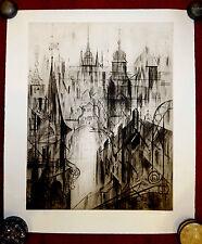 Grafik,Radierung,handsigniert,Maricka Klimovicova,Prag