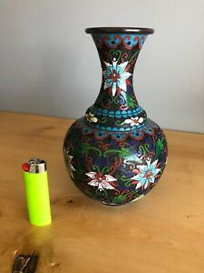 ANTIQUE JAPANESE ENAMEL CLOISONNÉ Vase Very Unusual