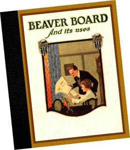 Beaver Board Co 1920 CATALOG Interior Fiber Wall decor panels Mission Bungalows