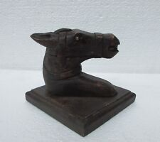 Vintage Collectible Wooden Hand Carved Wall Hanging Horse Bust Statue