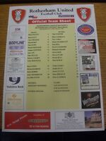 01/04/2002 Colour Teamsheet: Rotherham United v Millwall (folded). Thanks for vi