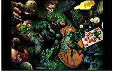 BATMAN DARK KNIGHT ART PRINT - DAVID FINCH & RICHARD FRIEND SIGNED - WONDERCON