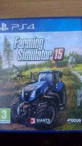 EXCELLENT   CONDITION ( FARMING SIMULATOR 15 ) BRILLIANT  PS4  GAME