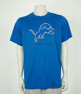 Nike Dri-Fit Detroit Lions Blue NFL Athletic Training Shirt Mens Large