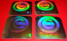 1990 Upper Deck Vintage 80's Logo Hologram Stickers Chicago Cubs Lot of 4