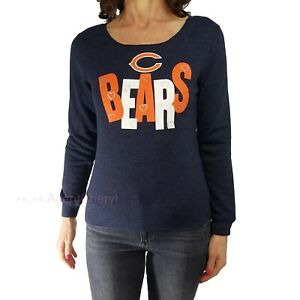 NFL Youth Girls XL or Womens XS Chicago Bears Blue Hearts Pullover Sweatshirt