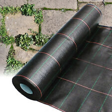 1M X 10M HEAVY DUTY WOVEN WEED CONTROL GROUND MULCH LANDSCAPE FABRIC