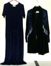Art-to-Wear DRESS Set Top/Jacket Dark Blue AHNI Lycra Dark Lagenlook OS