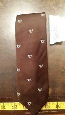 Vintage Gibels Brown French Horn Mens Designer Tie Necktie Free Shipping
